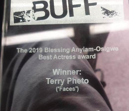 Terry Pheto WINS BUFF Award in the UK