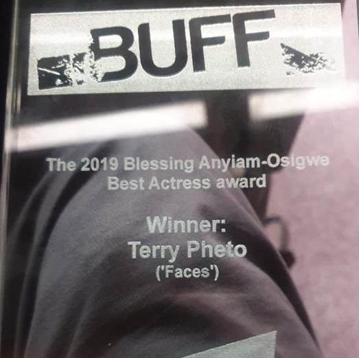 Terry Pheto WINS BUFF Award in the UK