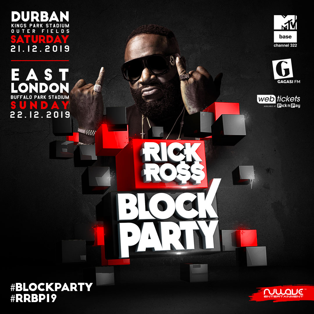 MULTIPLE AWARD NOMINATED RAPPER RICK ROSS TO HEADLINE BLOCK PARTY THIS WEEKEND WITH MTV BASE