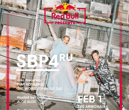 RED BULL PRESENTS  SBP4 (RU), FEMI KOYA (NG) AND THE WORLD OF BIRDS LIVE IN CAPE TOWN