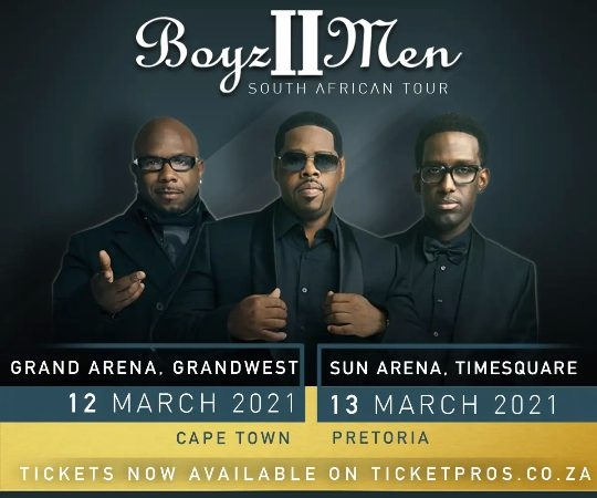BOYZ II MEN CONFIRM NEW SOUTH AFRICAN TOUR DATES