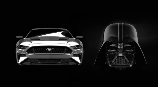 What does Darth Vader's helmet and the Ford Mustang have in common?
