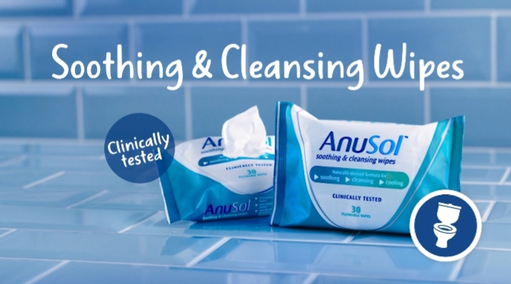 ANUSOL OFFERS EVEN MORE RELIEF WITH NEW FLUSHABLE WIPES!  ​